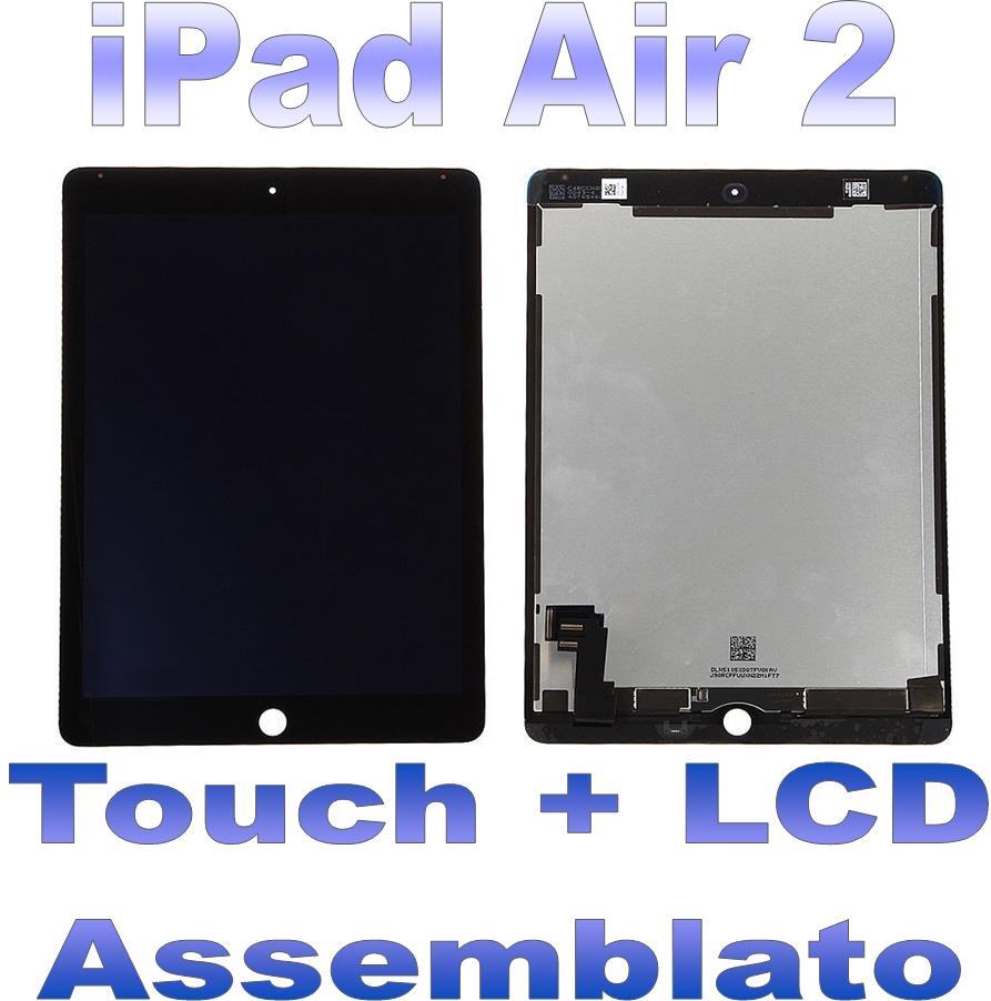 LCD + Touch Assemblato per iPad 2 Air Nero Grado AAA+