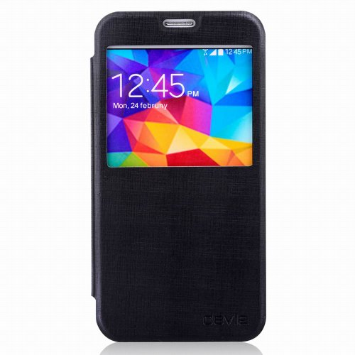 Cover Devia Talent Con Finestra per Samsung Galaxy S5 Nera