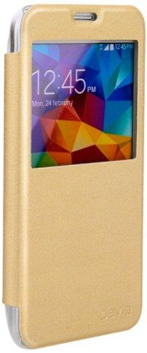 Cover Devia Talent Con Finestra per Samsung Galaxy S5 Oro